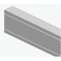 Мини-канал Efapel Серия 10 110х50, без перегородок, белый