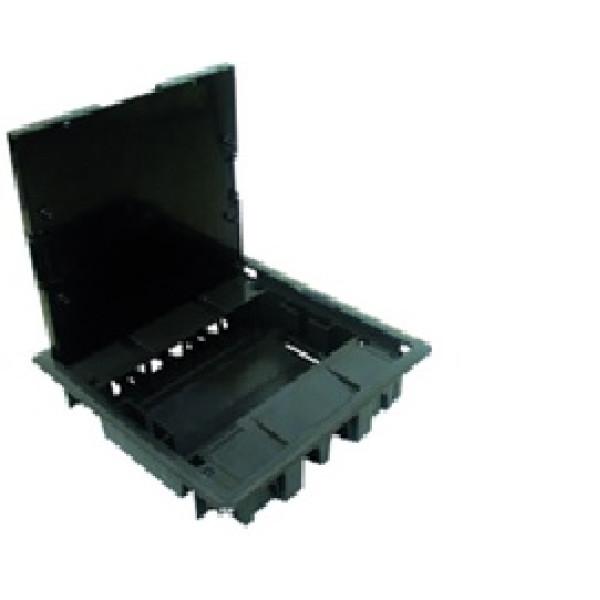 Напольный люк на 16 модулей под мягкое покрытие ,(8 розеток 45х45мм), антрацит (83008 CAT) Efapel