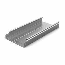 Металлический лоток Ostec, усиленный, неперфорированный, 200х50х2500 (ШхВхД), толщина: 0,7 мм, сталь, м. Сендзимира